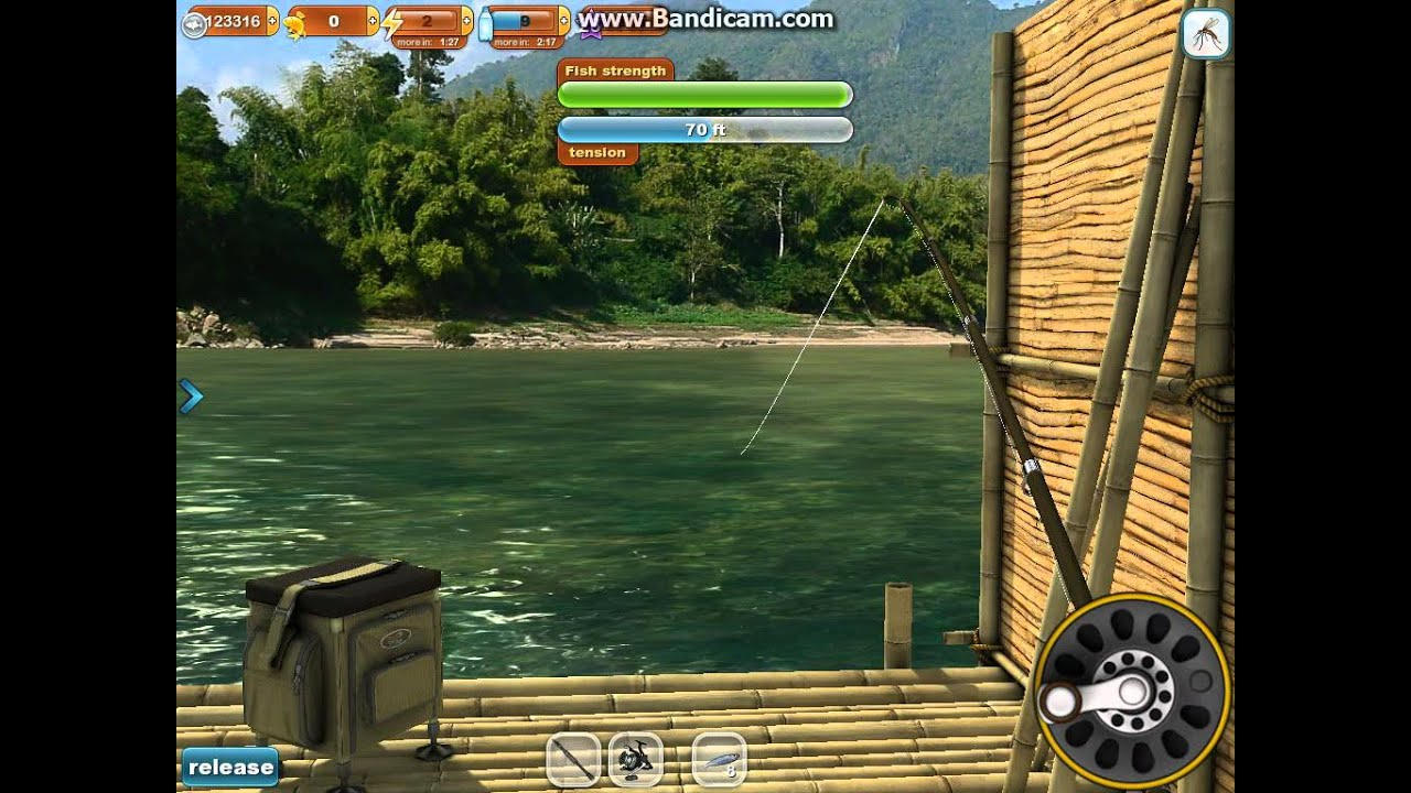 Fishing paradise 3d 60lb arapaima in the mekong river on for Ice fishing games free