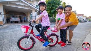 หนูยิ้มหนูแย้ม   หัดปั่นจักรยานสองล้อ
