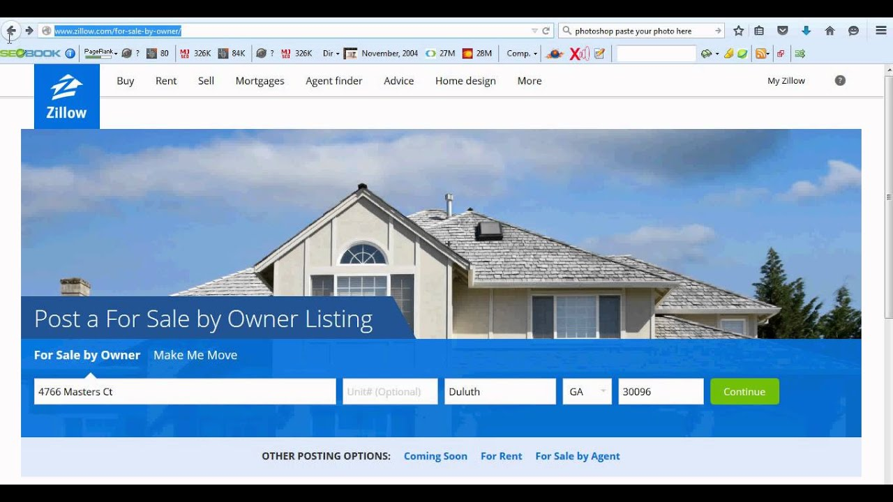 how to link to your website for your home from a zillow
