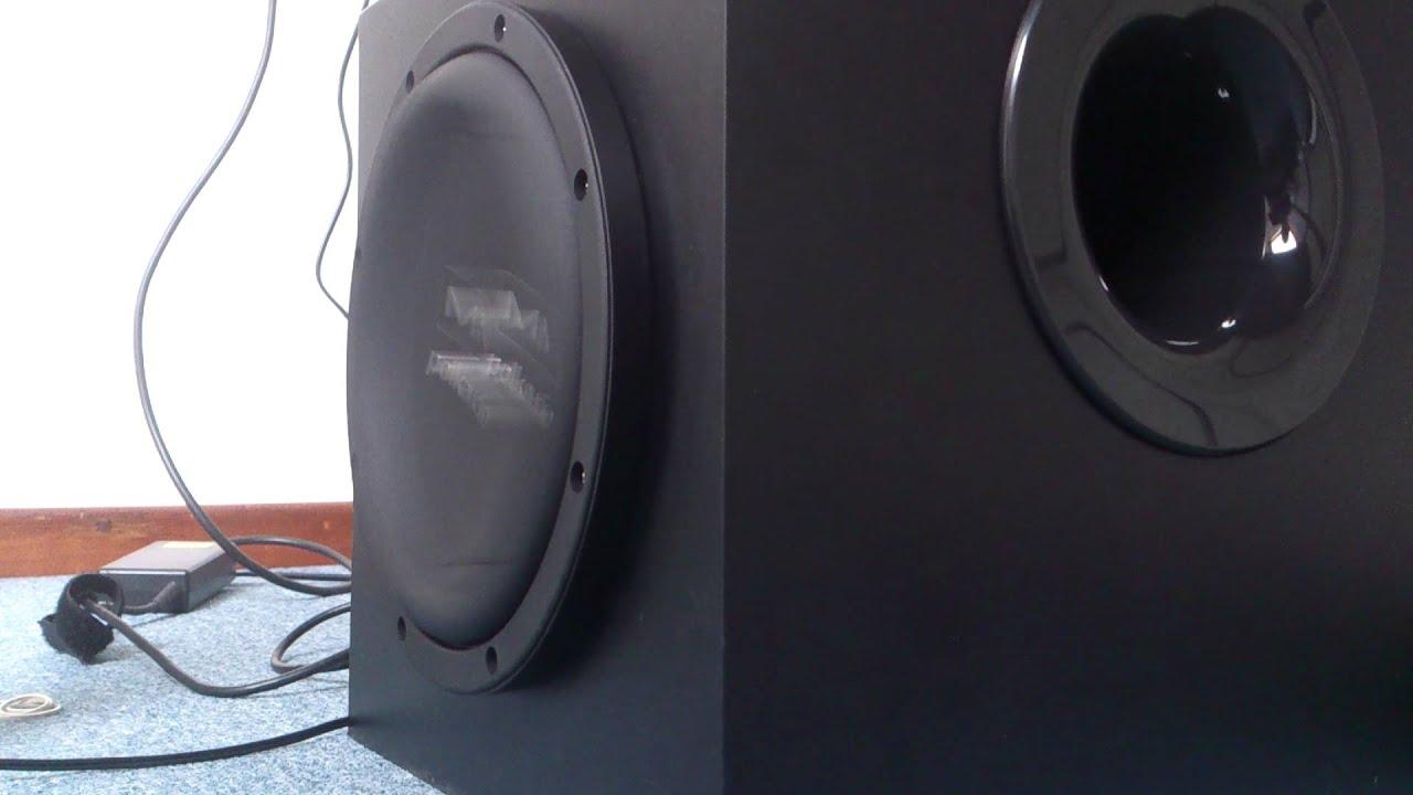 Logitech Z906 with Polk Audio subwoofer - YouTube