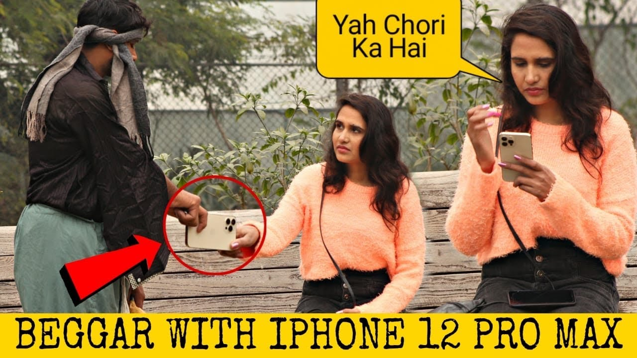 Beggar With iPhone 12 Pro Max Prank @That Was Crazy