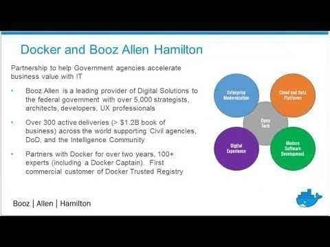 Booz Allen & Docker Modernize Traditional Apps for Government IT