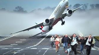 Flugzeugunfälle mit spektakulären Notlandungen!