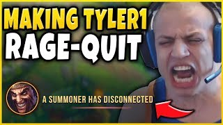 i literally made tyler1 rage quit in challenger not clickbait ft shipthur league of legends