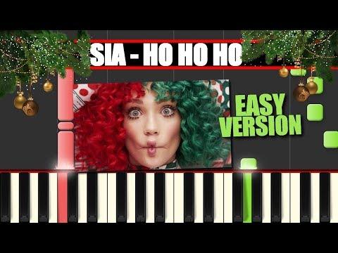 HO HO HO (Sia || EVERYDAY IS CHRISTMAS) EASY Piano Tutorial / Cover SYNTHESIA + MIDI & SHEETS