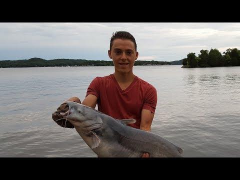 Weekend Trip to the Lake of the Ozarks, Missouri - Dock Fishing
