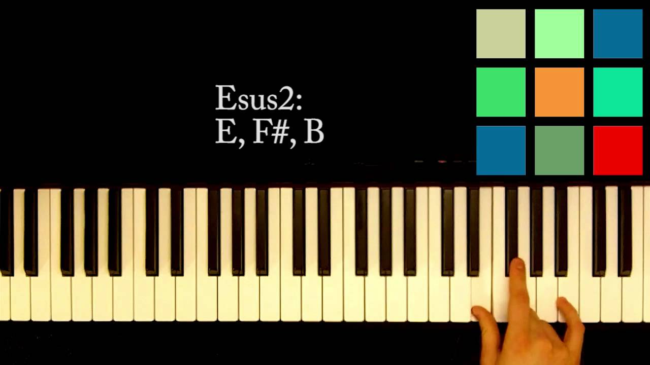 How to play an esus2 chord on the piano youtube how to play an esus2 chord on the piano hexwebz Images