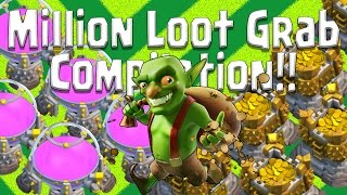 Clash of Clans - Million Loot Grab Compilation - Amazing Farming Loot Found!