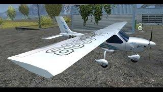 """Farming Simulator 2013 Mods - Airplane """"Cessna 172 V 1.0"""""""