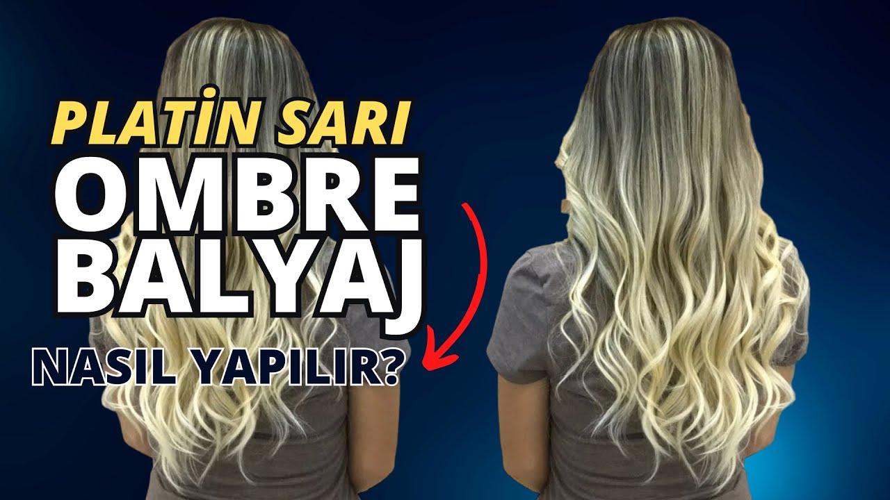 Ombre Platin Sarısı Saç Yapımı Youtube