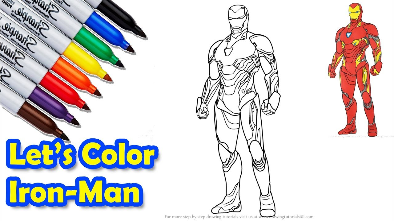 Iron Man Mark 50 The Avengers Infinity War Coloring Pages Sailany