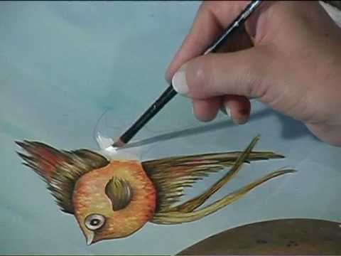 Manualidades pintar peces con pintura nicole 39 s youtube for Pintura para estanques de peces