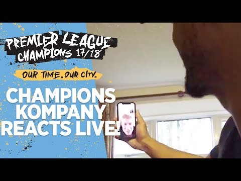 Champions! | live reaction from vincent kompany's living room!
