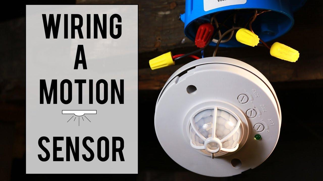 wiring a motion sensor to an led light [ 1280 x 720 Pixel ]