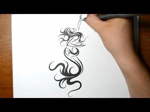 how to draw a phoenix tattoo