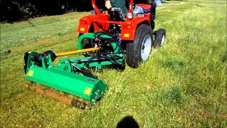 G AGL125 Tractor Verge Flail Mower Demonstration