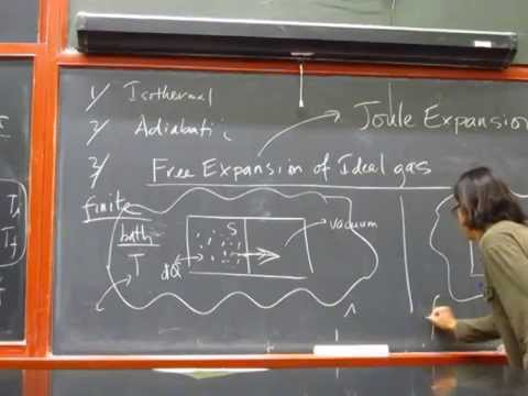 H7B Lecture 9/12: Heat, Work, and The 1st Law of Thermodynamics
