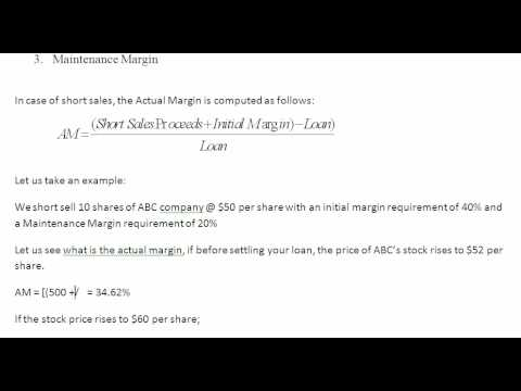 short sales on margin youtube