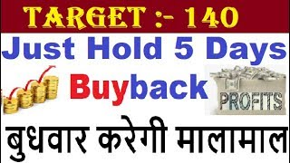 Latest Buyback News Just Hold 5 Days Get Target 140 ...