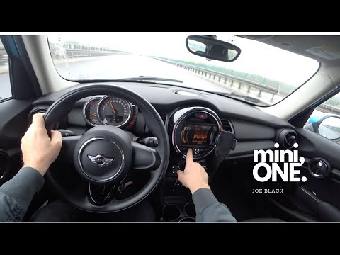 Mini One (75 KW 102 HP) | 4K POV Test Drive #116 Joe Black
