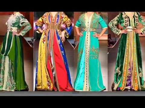 61b63db5cb7 Moroccan Traditional Dresses - YouTube