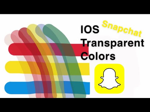 Transparent Colors On Ios Snapchat Youtube