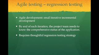[5-min software testing tips-5] Agile testing - Regression testing