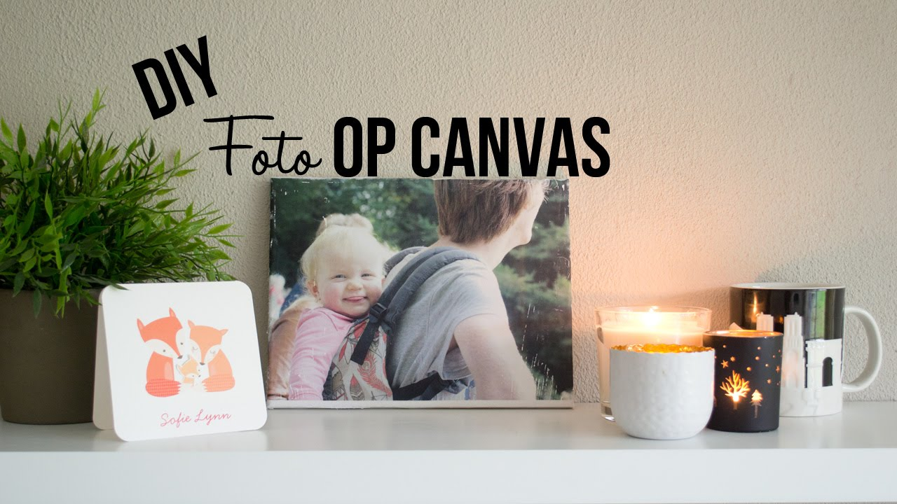diy foto op canvas lfr youtube. Black Bedroom Furniture Sets. Home Design Ideas