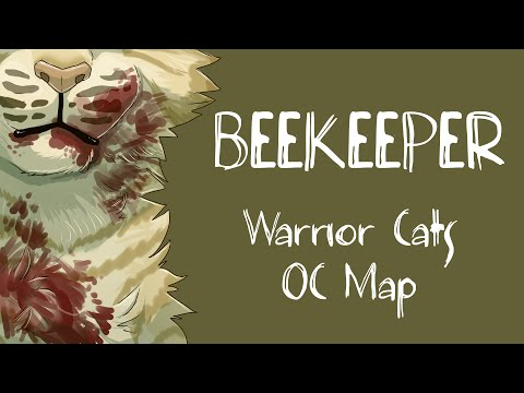 (Blood/death tw) Beekeeper Warrior Cats OC MAP
