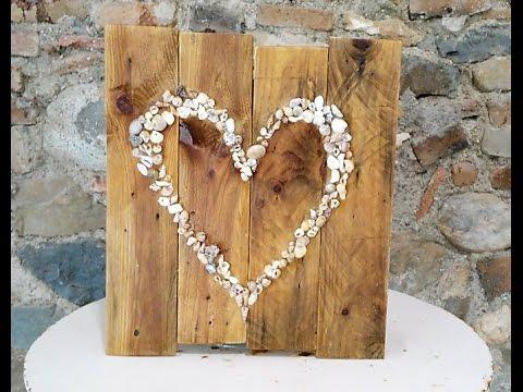 Manualidades con material reciclado cuadro con conchas y - Manualidades con conchas ...