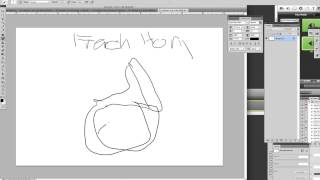 Drawing with Ben -- FRENCH HORN (photoshop)