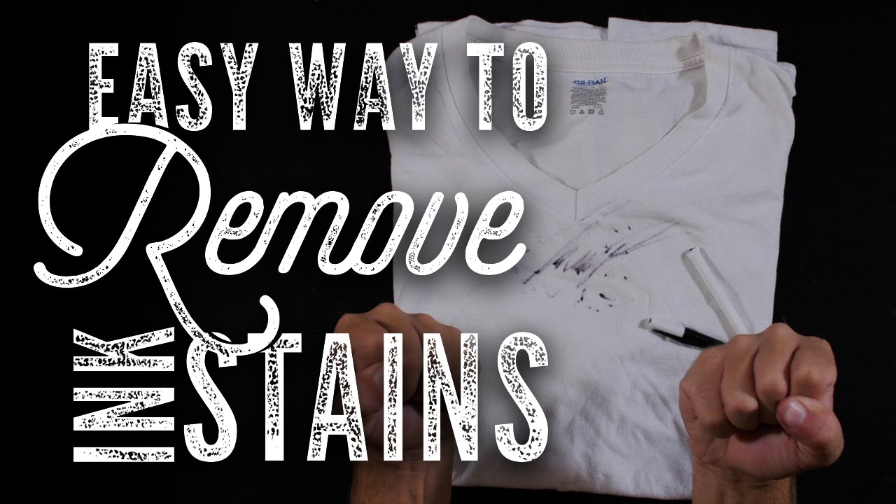 How To Remove Any Ink Stain From Clothes Diy Hack Youtube