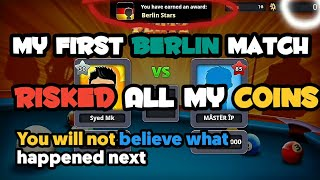 My First  8 Ball Pool Berlin Match Gone Unexplainable | Zero To Hero Ep 4