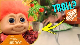 Henry the TROLL goes to HOME DEPOT, TACO BELL and PLANTS a TOMATO ( FUNNY SKIT )