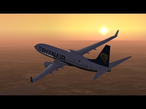 Ryanair PMDG 737-800 Szczecin EPSC - Liverpool EGGP - Nimes LFTW (Live on Vatsim/FSX)