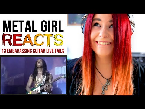 Metal Girl Reacts To - 13 Embarassing Guitar LIVE FAILS | Jassy J