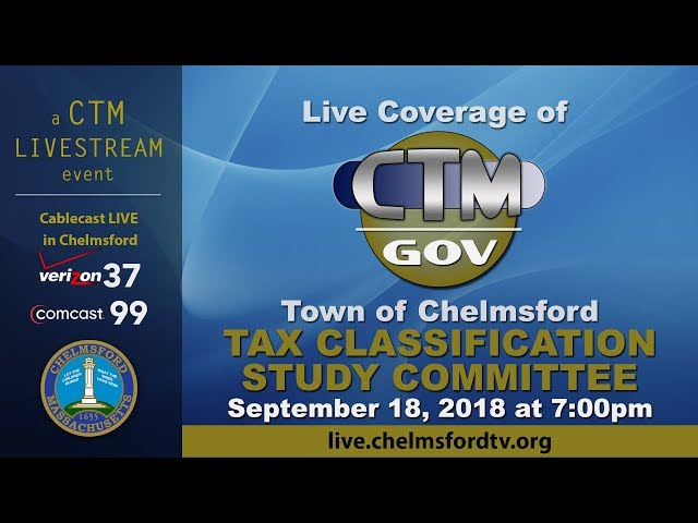 Chelmsford Tax Classification Sept. 18, 2018