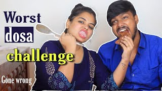 Horrible dosa challenge | Don't try this anywhere | Ram with Jaanu ( Worst decision )