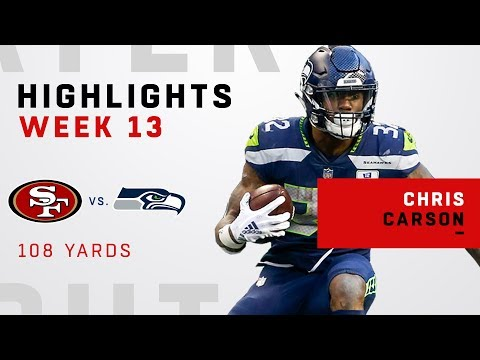 Chris Carson Highlights vs. 49ers