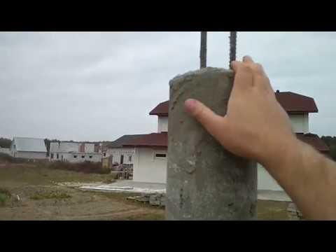 Бетонные столбы для забора своими руками из асбестоцементных труб