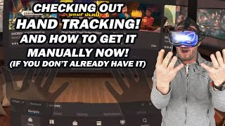 Oculus Quest Hand tracking! And how to manually install the update to get it now!
