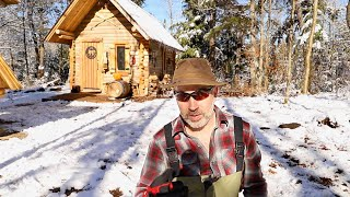 Log Cabin Sauna Ep 6   Canadian Wilderness Off Grid Living