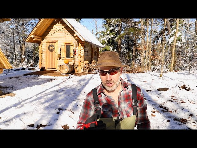 Log Cabin Sauna Ep 6 | Canadian Wilderness Off Grid Living
