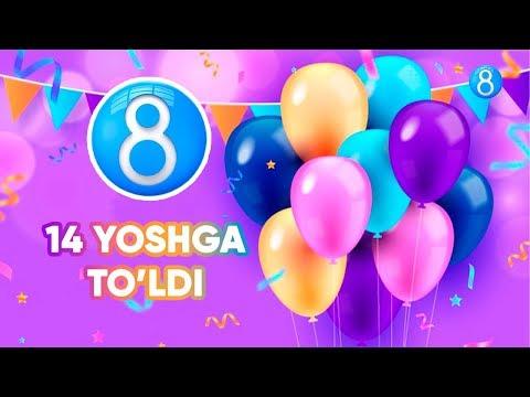 8tv Telekanali 14 Yoshga To'ldi