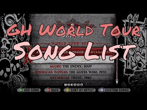 What Songs Are On Guitar Hero World Tour? All / Full Song List Scroll HD Gameplay Video GHWT