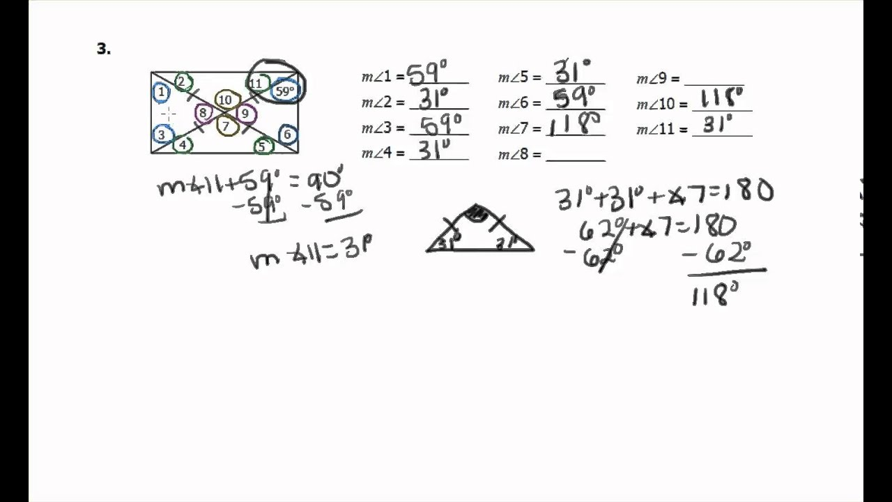 unit 7 polygons and quadrilaterals homework 4 rhombi and squares answers