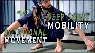 Deep Squat Rotational Movements | Natural Mobility Training