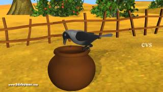 Video Ek Kauwa Pyaasa tha Poem - 3D Animation Hindi Nursery Rhymes for Children with Lyrics download MP3, 3GP, MP4, WEBM, AVI, FLV September 2018