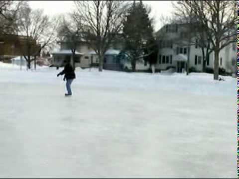 Ice skating at Whitney Park, Green Bay, WI