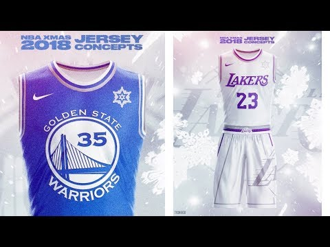 Lakers 2020 Christmas Jersey NBA x NIKE 2018 Christmas Day Jersey Concepts   Tyson Beck   YouTube